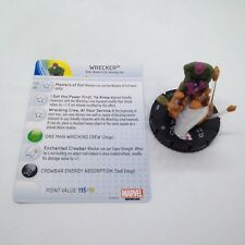 Heroclix Invincible Iron Man set Wrecker #050 Super Rare figure w/card!