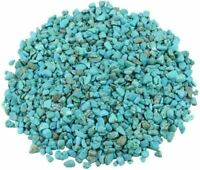 rockcloud 1 lb Howlite Turquoise Small Tumbled Chips Crushed Stone Healing Reiki
