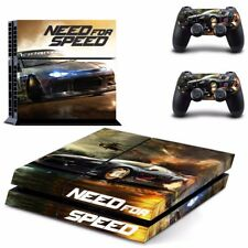 NEED FOR SPEED Car Race Sticker Playstation 4 Console Cover +2 controller PS4