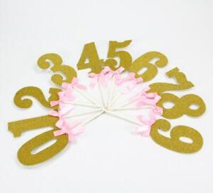 Miss Bakery's House® Cake Topper - Glitzer - Zahlen - 0-9 - verschiedene Farben