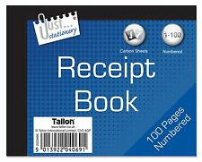 Receipt Duplicate Book 1-100 Carbon Sheets 128mm x 100mm
