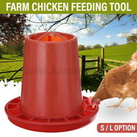 S/L Red Chicken Feeder Water Drinker Farm Poultry Pet Pheasant Feeding Tool
