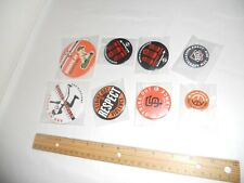 8 SF GIANTS BUTTON PIN SGA willie mccovey #44,  Trophy, Pence,