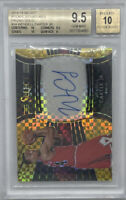 Rookie 2018-19 Panini Select Wendell Carter Jr GOLD Prizm AUTO /10 RC BGS 9.5/10