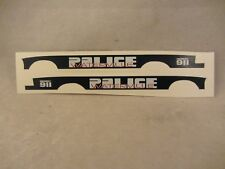 Res1Cue Customs - Waterville  Police Decals  '98 Ford  1:43 Scale  (718)