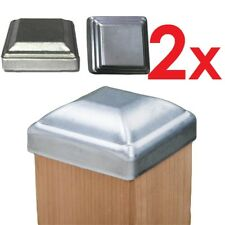 2 pcs Galvanized Steel Square Post End Cap For Fence Posts 32 to 150mm 6 sizes