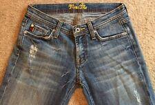 Miss ME Vintage Destroyed Frayed Hem Stretch Jeans Size 28 28x29