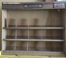 VINTAGE WINSTON CIGARETTE METAL STORE/GAS STATION DISPLAY CABINET FAUX WOOD LOOK
