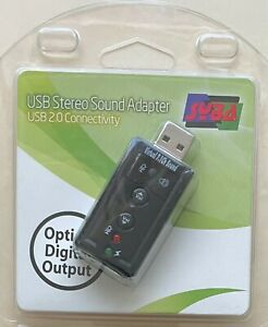 Syba SD-AUD20101 USB 2.0 External Stereo Sound Adapter with Optical SPDIF Output