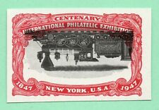 Inverted Vignette Error 1947 Old US Stamp Imperf No Gum Upside Down Locomotive