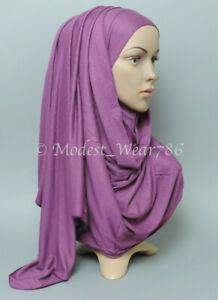 Premium Cotton Jersey Size Small / Medium / Maxi Hijab Scarf Muslim Headwear
