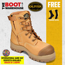 Oliver Work Boots, 45632z, Zip, Lace-Up, Non-Metal, Composite Toe Cap Safety