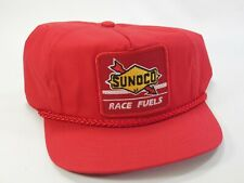 Sunoco Race Fuels NASCAR Racing Trucker Hat Cap Off White NWOT
