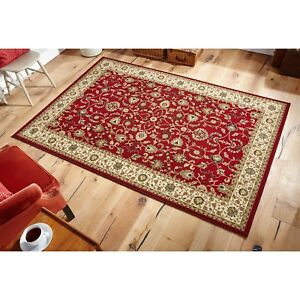 Kendra 137R Red Traditional Style Rug in 5 sizes runner and circle
