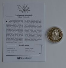 2010 Jersey Oliver Cromwell Revolution to Restoration Silver Proof £5 Coin COA