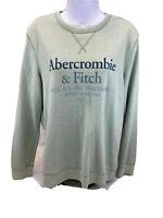 Abercrombie & Fitch Women's Green Long Sleeve Crewneck Sweatshirt Sz S