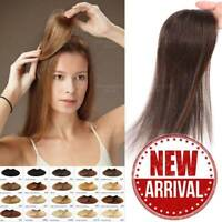 100% Human Hair Straight Clip in Piece Filler Seamless Add-On Bangs Topper B128