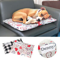 Personalized Cat Dog Bed Pillow Custom Removable Cover Mattress for Kennel Crate