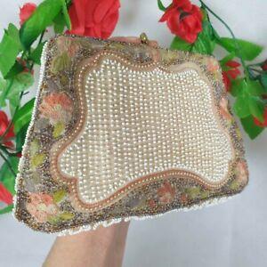 Vintage Antique 1930s Beaded Purse Bag