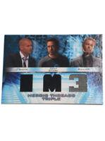 2013 Upper Deck Iron Man 3 Movie Costume Card Relic Tony Stark Triple Threads UD