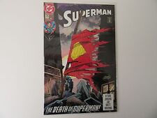 Superman The Death Of Superman #75 Jan 1993 2nd Print Fold Out Back - Mint