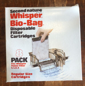 Vintage Second Nature whisper bio bag disposable filter cartridges 8pack C,1,2,3