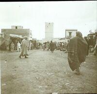MAGHREB Maroc Algérie Tunisie Marché c1910, Photo Stereo Vintage Plaque Verre VR