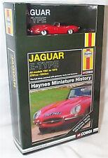 Jaguar E Type Red 1-43 scale Haynes mini History Book & Car Boxed set CC03002