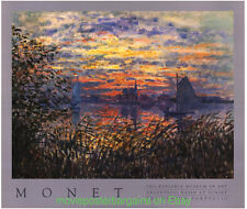 CLAUDE MONET Gallery Print Poster ARGENTEUIL BASIN AT SUNSET Mirage Editions