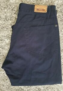 Men/'s Paul Smith Red Ear Black Cotton-Blend Satin Drawstring Trousers L Only