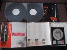 KISS Double Platinum Japan Promo White Label DBL Vinyl LP with OBI Card Poster