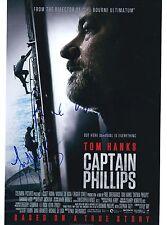 Paul Greengrass & Yul Vazquez signed Hanks' Captain Phillips 8X10 photo @ Proof