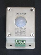 LED LIGHTING MOTION DETECTOR SWITCH 12 - 24 VOLT DC 8 AMP LIGHT PIR1