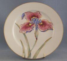 Fitz & Floyd La Belle Fleur Luncheon Single Plate Floral Gold Rim Discontinued
