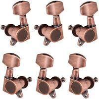 3L3R Tuning Pegs Tuners Machine Heads for Acoustic Electric Guitar - Red Copper
