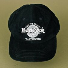 Hard Rock Cafe Baltimore Trucker Snapback Black Baseball Hat Cap