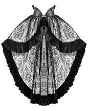 Punk Rave Womens Black Lace Cape Cloak Skirt Gothic Lolita Steampunk VTG Velvet