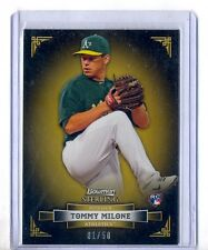 TOMMY MILONE 2012 BOWMAN STERLING GOLD REFRACTOR #1/50