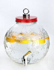 New listing Winter Ornament Beverage Drink Dispenser Snowflake Christmas Party Pitcher Clear