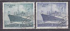 """GERMANY - BERLIN 1955 used SC# 9N113 - 9N114 - M.S.""""Berlin"""" and Arms of Berlin"""