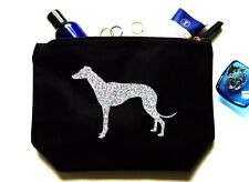 Greyhound Make Up Bag, Organic Cosmetic Bag, Canvas Makeup Toiletry Pouch
