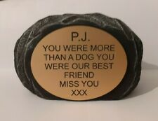 Dog Large Pet Memorial/headstone/stone/grave marker/memorial with plaque new 3