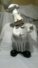 22 inch tall Fat Chef resin STATUE