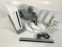 NINTENDO WII CONSOLE | CHARGER, SENSOR BAR, CONTROLLERS MOTION, NUNCHUKS; TESTED