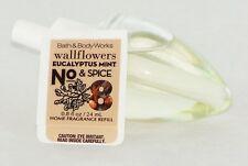 Eucalyptus Mint Spice No.8 Fragrance Wallflower Refill Bath Body Works 0.8oz NEW