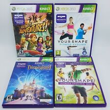 Microsoft XBox 360 Kinect 4 Game Lot - Adventures Disneyland Your Shape Fitness