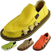 Summer Mens Hollow Breathable Casual Beach Canvas Slip On Loafers Flats Shoes