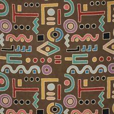 CLARENCE HOUSE ETHNIC CHIC AMAZONIA CREWEL FABRIC 5 YARDS BROWN MULTI