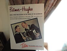 1960s Palmer-Hughes Titano Accordion 11 x 14 Music Store Display Ad Poster