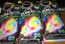LED PUNCH Light Up Balloon Color Changing 3 Pack Lot ILLOOMS 15 hours